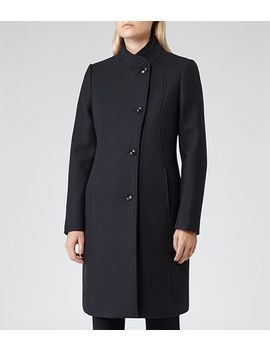 structured-button-coat by tuscany
