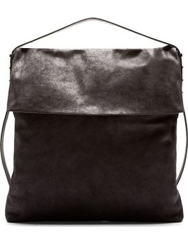 charcoal-distressed-suede-oversized-hobo-bag by rick-owens