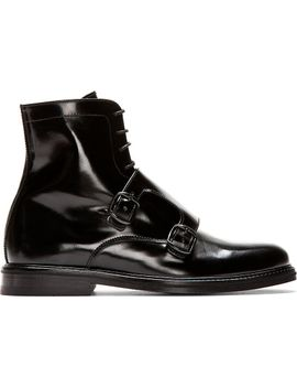 black-leather-monk-strap-boots by carven