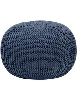 urban-shop-round-knit-pouf by urban-shop