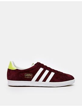 adidas-gazelle-maroon-sneakers by adidas