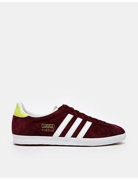 adidas-gazelle-maroon-sneakers by adidas