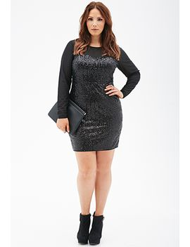 sequin-&-mesh-bodycon-dress by forever-21