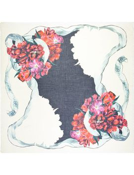 black-&-red-tulip-pashmina-scarf by alexander-mcqueen