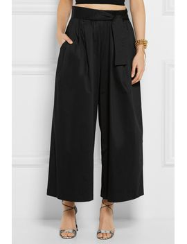 cropped-cotton-blend-sateen-wide-leg-pants by tome