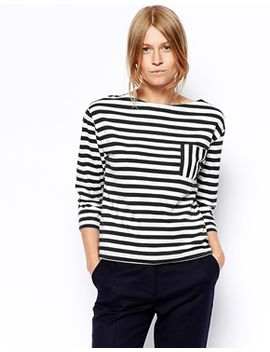 asos-striped-top-in-premium-fabric by asos-collection