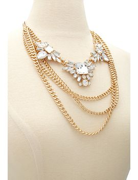 layered-chain-statement-necklace by forever-21