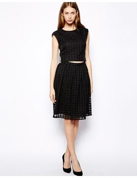 warehouse-dogtooth-skirt by warehouse