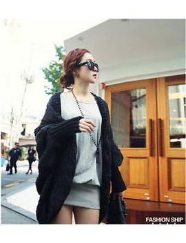 women-oversized-loose-knitted-sweater-batwing-sleeve-tops-cardigan-outwear-coat by stillcool
