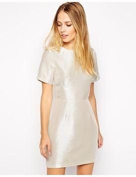 warehouse-metallic-shift-dress by warehouse