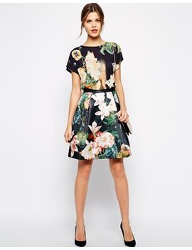 ted-baker-skirt-in-opulent-bloom-print by ted-baker