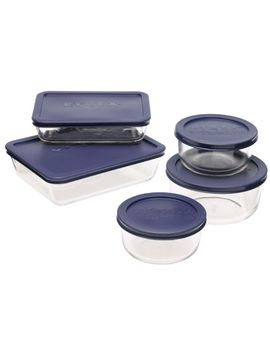 pyrex-simply-store-10-piece-glass-food-storage-set-with-blue-lids by pyrex