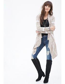 draped-metallic-marled-cardigan by forever-21