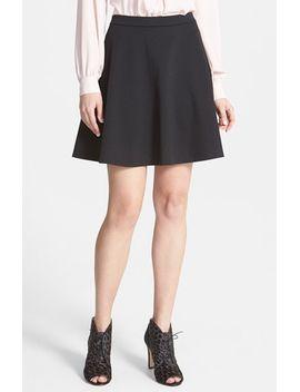 back-zip-flared-ponte-skirt by halogen®