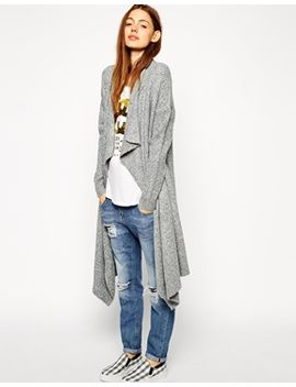 asos-longline-waterfall-cardigan-in-chunky-knit by asos-collection