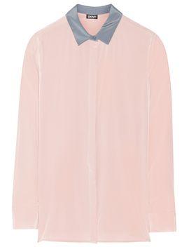 stretch-silk-crepe-de-chine-shirt by dkny