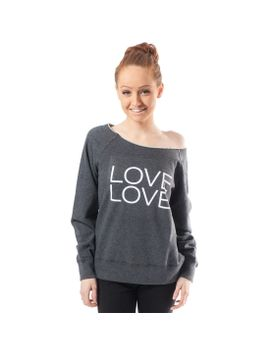 lazypants-womens-sarah-love-love-boat-neck-sweatshirt by lazypants®