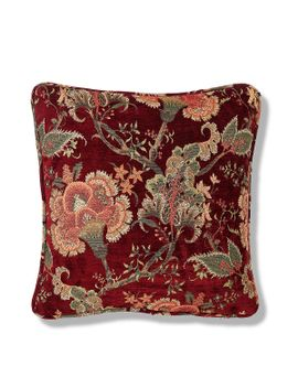 chenille-floral-jacquard-cushion by marks-&-spencer