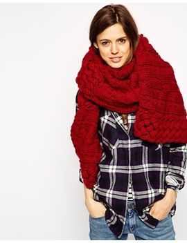 asos-oversized-open-lattice-cable-scarf by asos-collection