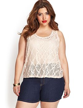 textured-crochet-lace-tank by forever-21