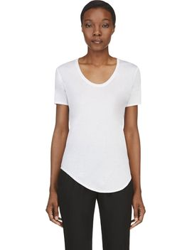 white-jersey-kinetic-t-shirt by helmut-lang
