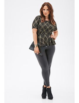 diamond-patterned-peplum-top by forever-21