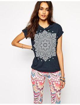 rokoko-festival-t-shirt-with-mandala-henna-print by rokoko