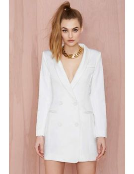 line-&-dot-angelina-tuxedo-dress---white by nasty-gal