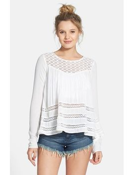 time-to-go-crochet-inset-flyaway-top by volcom