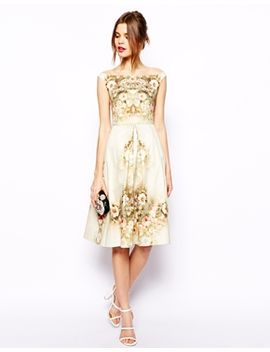 asos-vintage-floral-midi-bardot-dress by asos-collection