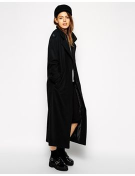 asos-coat-with-military-detail-in-maxi-length by asos-collection