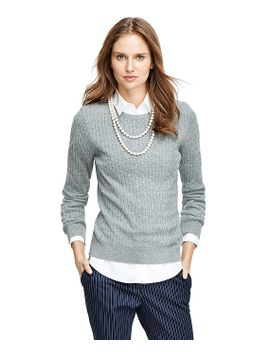 cashmere-cable-crewneck-sweater by brooks-brothers