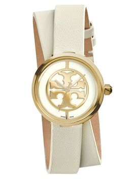 reva-logo-dial-double-wrap-leather-strap-watch,-28mm by tory-burch