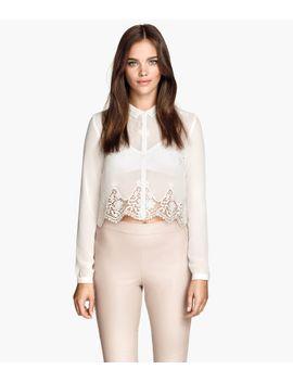 short-chiffon-blouse by h&m