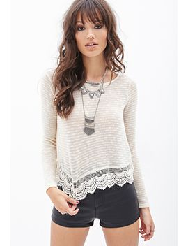 scalloped-crochet-top by forever-21