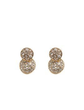 rhinestone-pave-disc-illusion-earring by agaci
