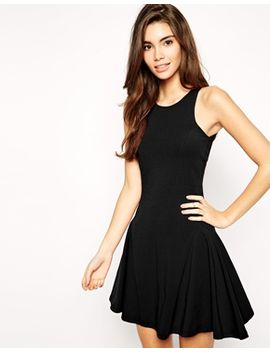 asos-fluted-hem-dress-in-seam-detail by asos-collection