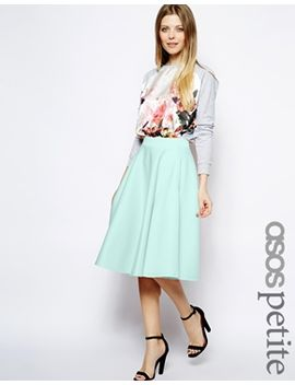 asos-petite-full-midi-skirt-in-scuba-with-pockets by asos-petite