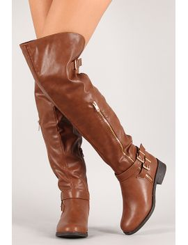 zippered-side-thigh-high-riding-boot by urbanog