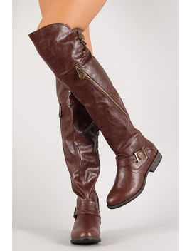 double-buckle-thigh-high-riding-boot by urbanog