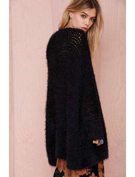 madeline-shag-knit-cardigan by nasty-gal