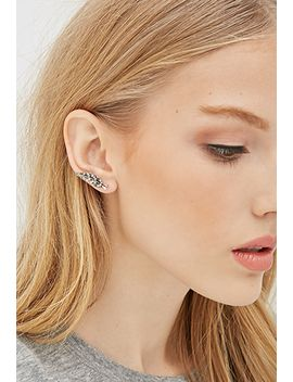 leaf-stud-&-ear-pin-set by forever-21