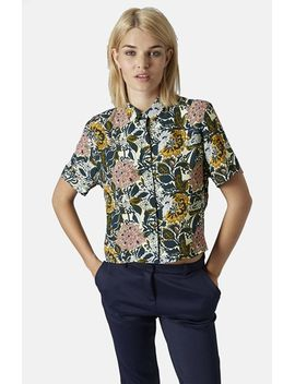 floral-print-shirt by topshop