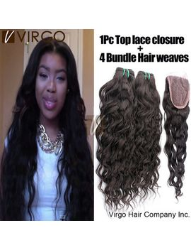 peruvian-virgin-hair-water-wave-3_4-pcs-hair-bundles-with-1-pcs-closure-unprocessed-peruvian-human-hair-weave-rosa-hair-products by ali-express
