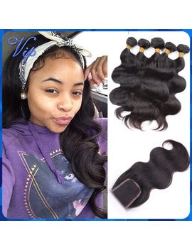 brazilian-virgin-hair-with-lace-closure-unprocessed-brazilian-body-wave-3-bundles-and-1pcs-brazillian-top-closures-ms-lula-hair by ali-express