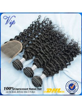 vip-beauty-brazilian-virgin-hair-lace-closure-with-bundles-4pcs-brazilian-deep-curly-virgin-hair-with-free-part-lace-closure by ali-express
