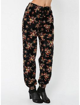 unisex-floral-print-cotton-twill-billionaire-pant by american-apparel