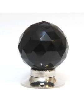 black-faceted-glass-internal-turning-mortice-door-knobs by pushka-knobs
