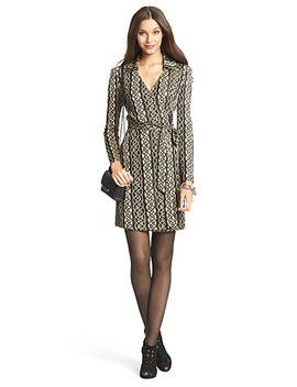 dvf-dolores-metallic-knit-wrap-dress by dvf