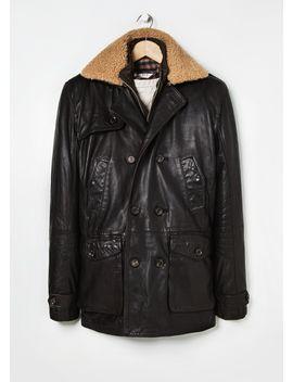 detachable-jacket-leather-coat by mango